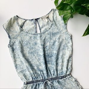 MilkyWay | Acid Wash Shorts Romper sz M